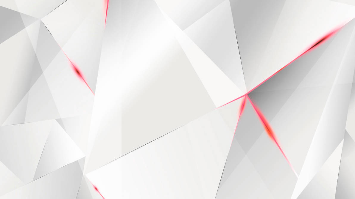 Wallpapers - Red Abstract Polygons (White BG) by ...
