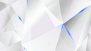 Wallpapers - Blue Abstract Polygons (White BG)