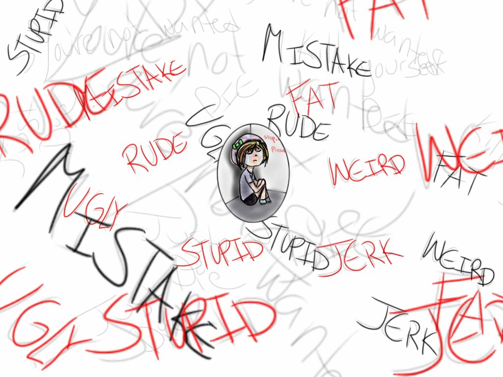 words hurtstop bullying by strandedphotos on deviantart