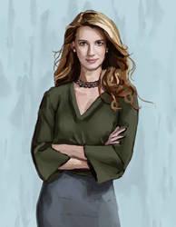 Petra (Yael Grobglas) - Jane the Virgin Fan Art by Erynnia