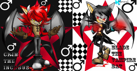 Blade The vampire bat and Crim The Incubus