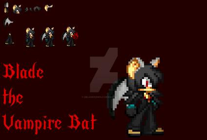 Blade The Vampie Bat Sprite art by Zbladeicewolf
