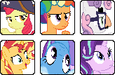 {FTU} MLP Icons by Bezziie