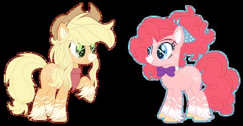 Headcanon: AJ and Pinkie (+ info !) by Bezziie
