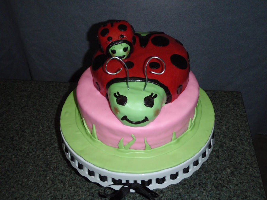 ladybug baby shower cake by sarahmame on deviantart