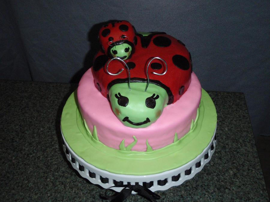 Ladybug Baby Shower Cake By Sarahmame On Deviantart