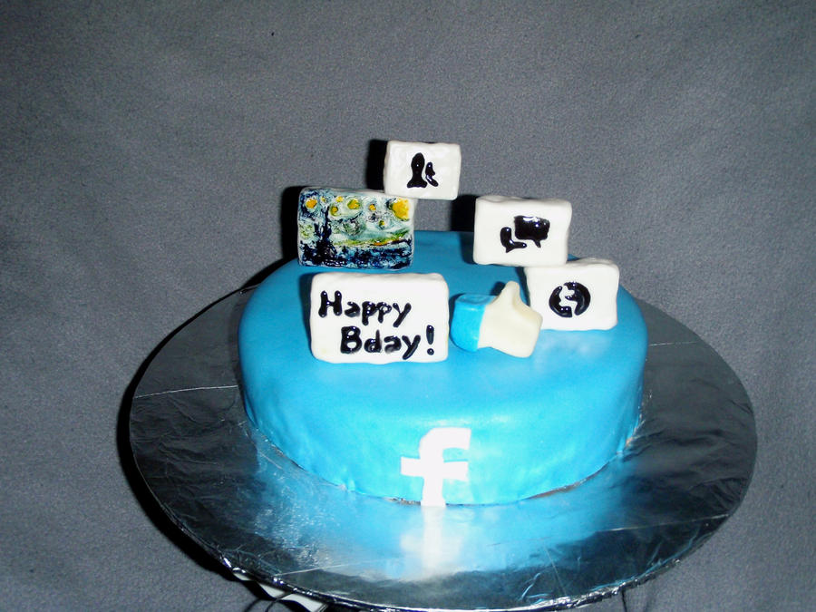 Facebook Birthday Cake by SarahMame on DeviantArt