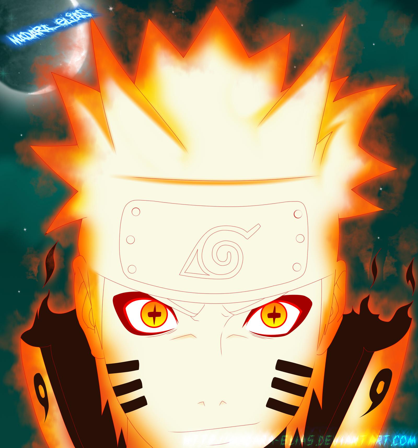 Naruto -mode bijuu sennin- by madara-elias