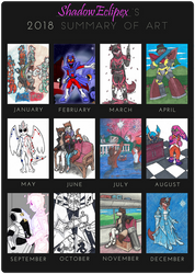 2018 Summary of Art by ShadowEclipex