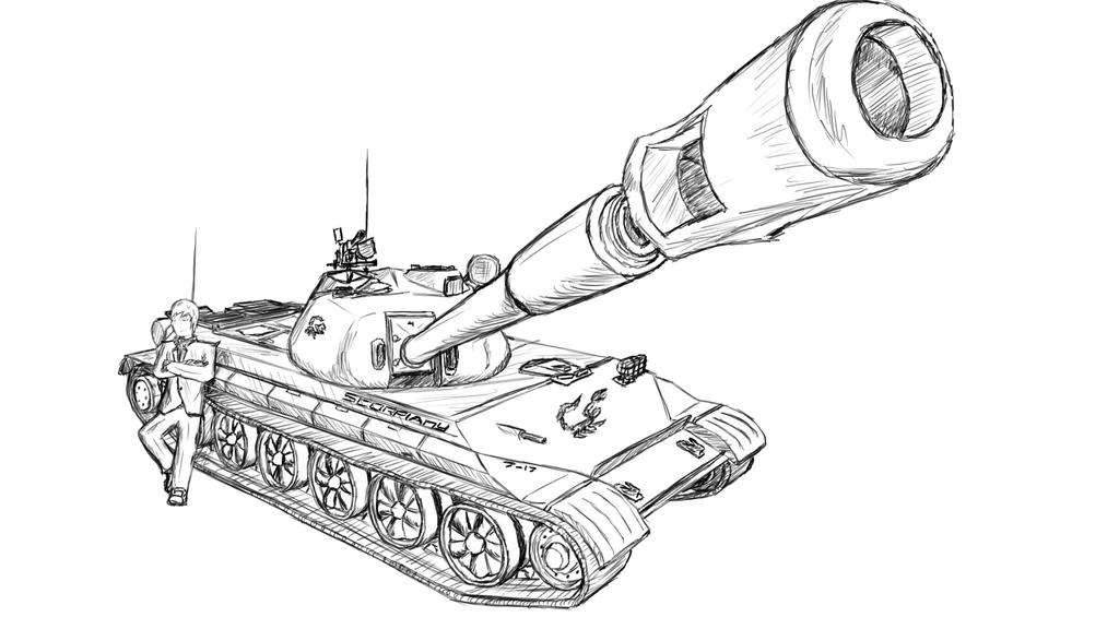 Scorpiany's 113, World of Tanks Forums Sketch by Medessec on