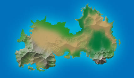Ginever Island Topography