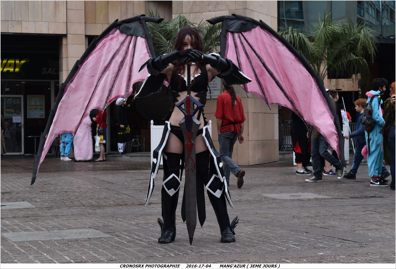 erza scarlet cosplay black wings armor by arborealkey on