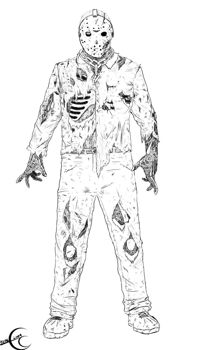 Friday the 13th part 7 by Ec87 on DeviantArt Jason Friday The 13th Drawings