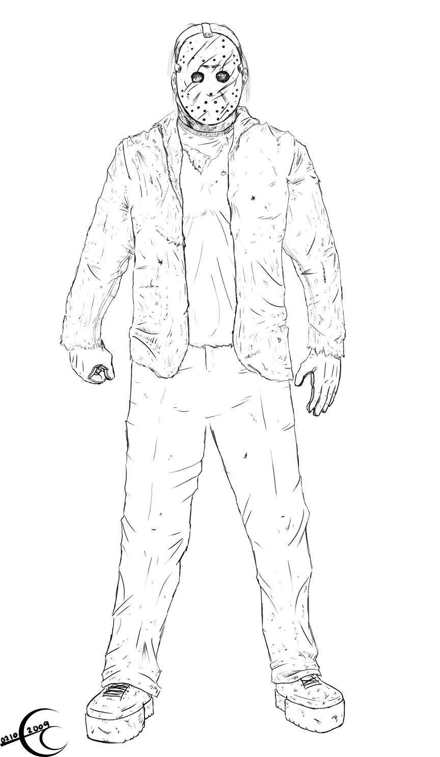 Jason Voorhees Freddy Coloring Pages