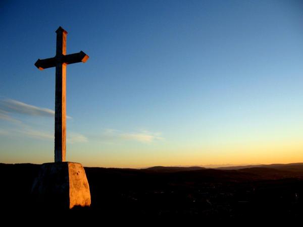 Cross - sunset