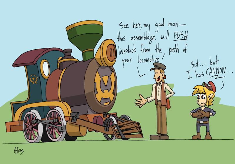 Spirit Tracks: lost puns by Atticus-W