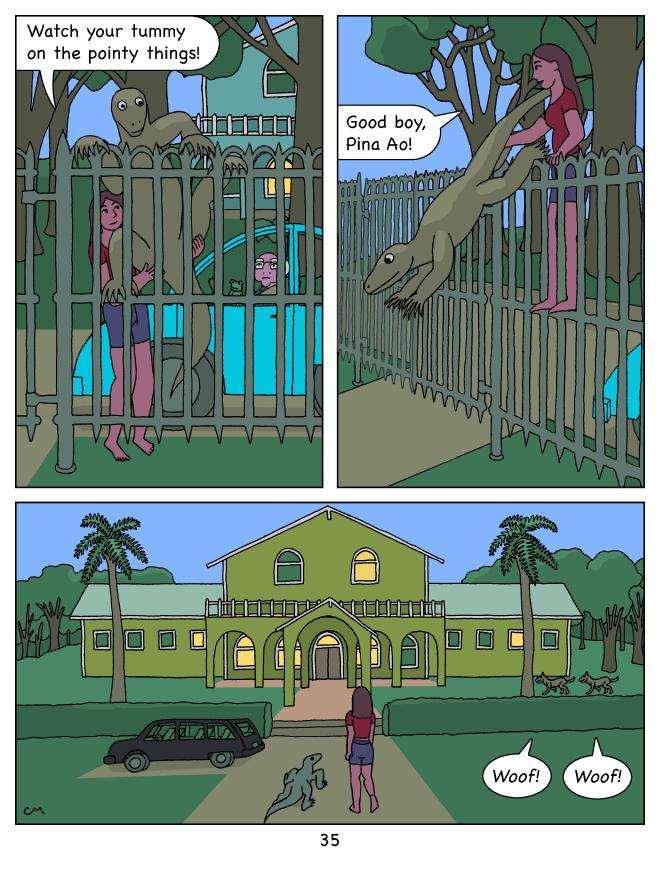 Molly Blue 35, Fence Climb