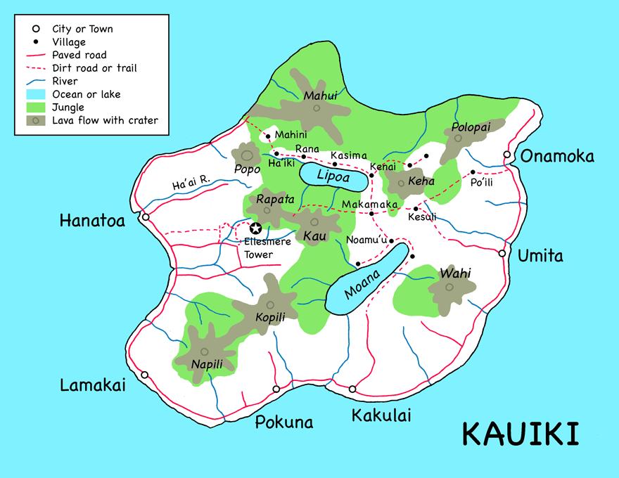 Map of Kauiki