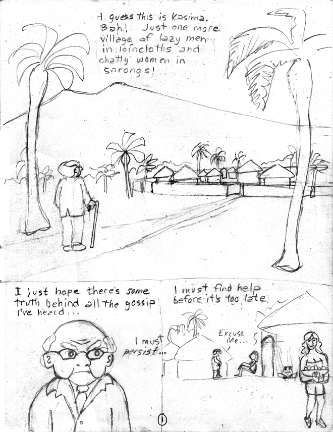 Molly Blue rough pencil page 1