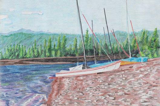 Sailboats, Lake Pillsbury
