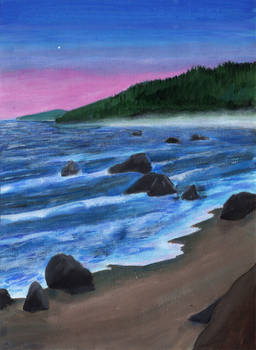 Howard Creek Beach, Sunset