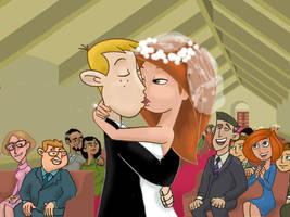 Wedding Kiss by cloudmonet