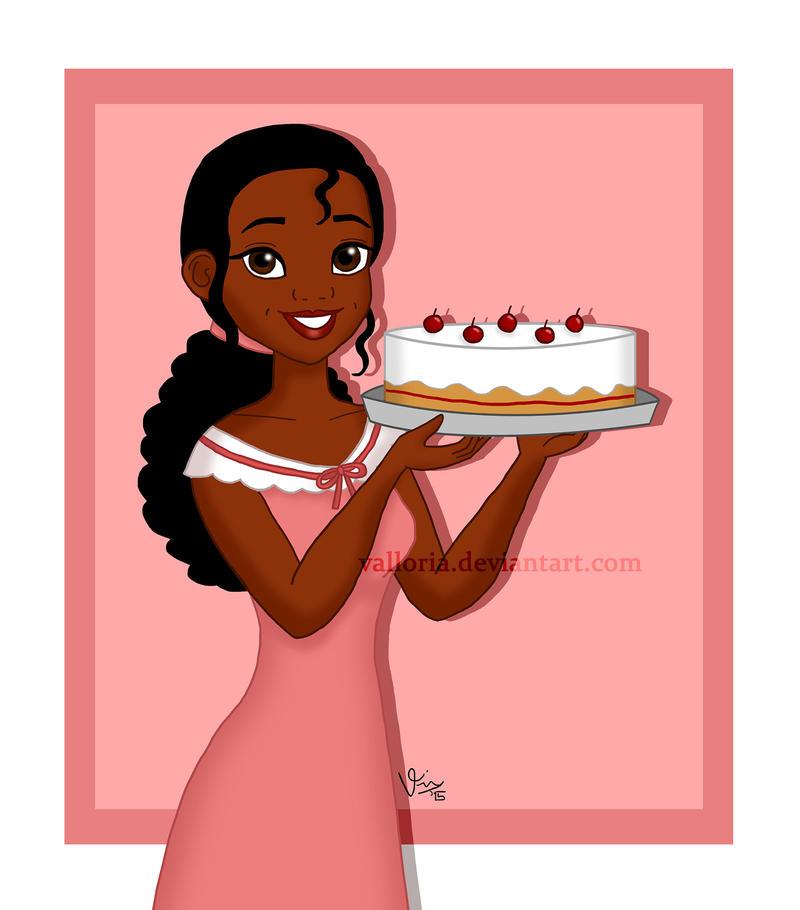 Disney Tiana Birthday Cake
