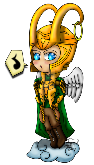 Chibi Angel Loki by lizluvsanime2