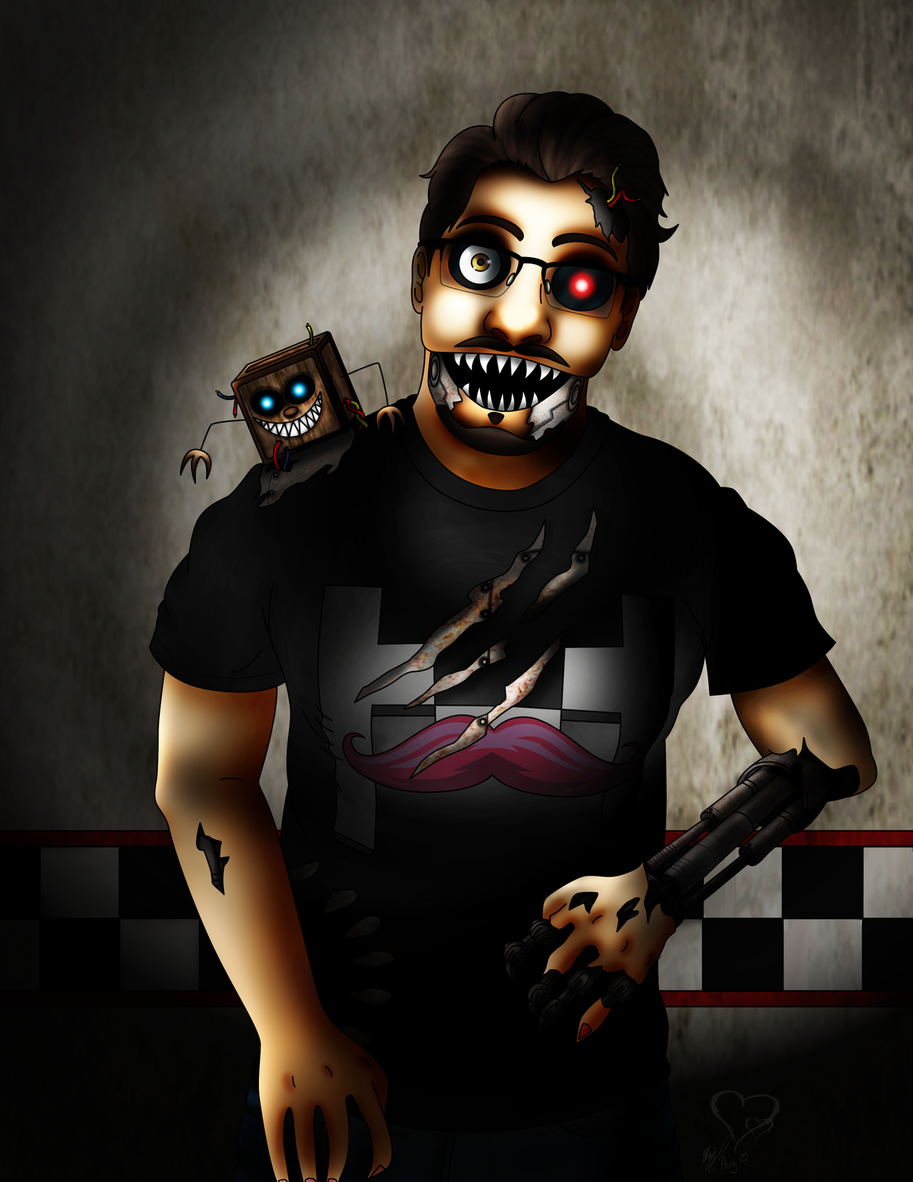.:FNAF:.Animatronic Markiplier by lizluvsanime2 on DeviantArt Markiplier Fnaf