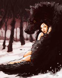 Wolf girl by LolosArt