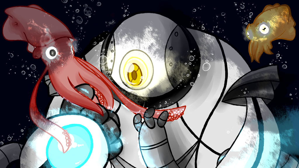 Deep Sea Diving [CONTEST ENTRY FOR CANDY-BEHEMOTH] by gamakichisora