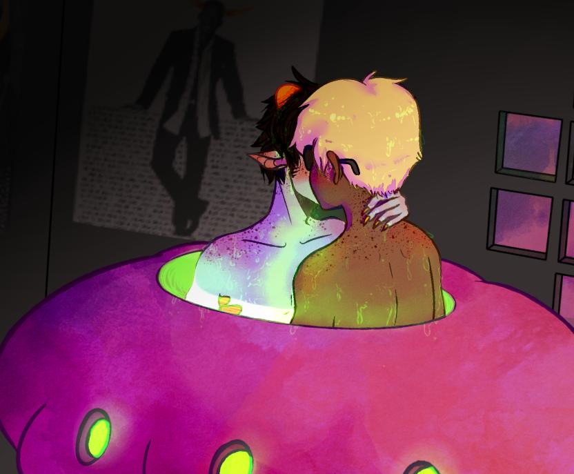 nerds kissing in slime by gamakichisora