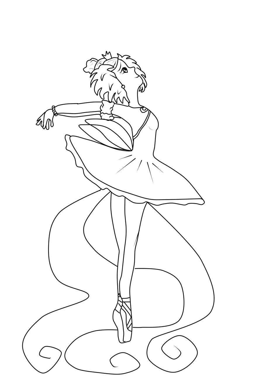 Princess Ballerina By Serenachildofmoon On Deviantart Princess Ballerina Coloring Pages