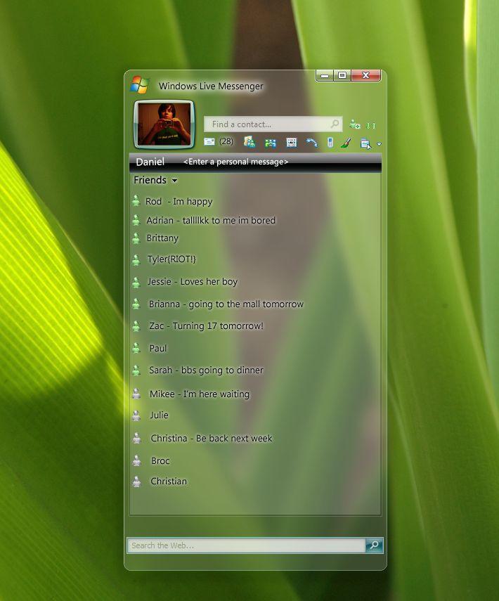 Windows Live Messenger 2009 Plus Windows Live Messenger Concept