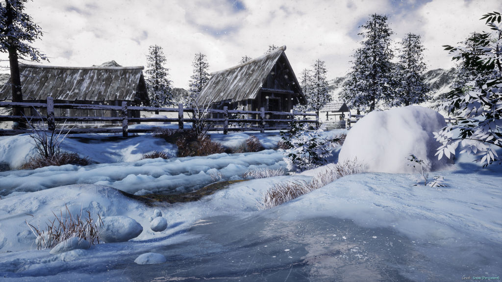 Snowy Village - Unreal Engine 4 by KillstreakGaming on DeviantArt