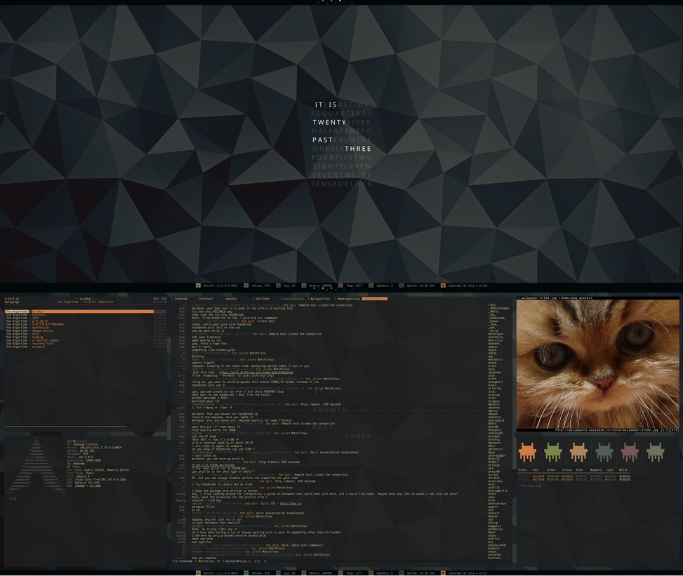 [arch] [awesomewm] July Desktop 2014 (v2) by transienceband