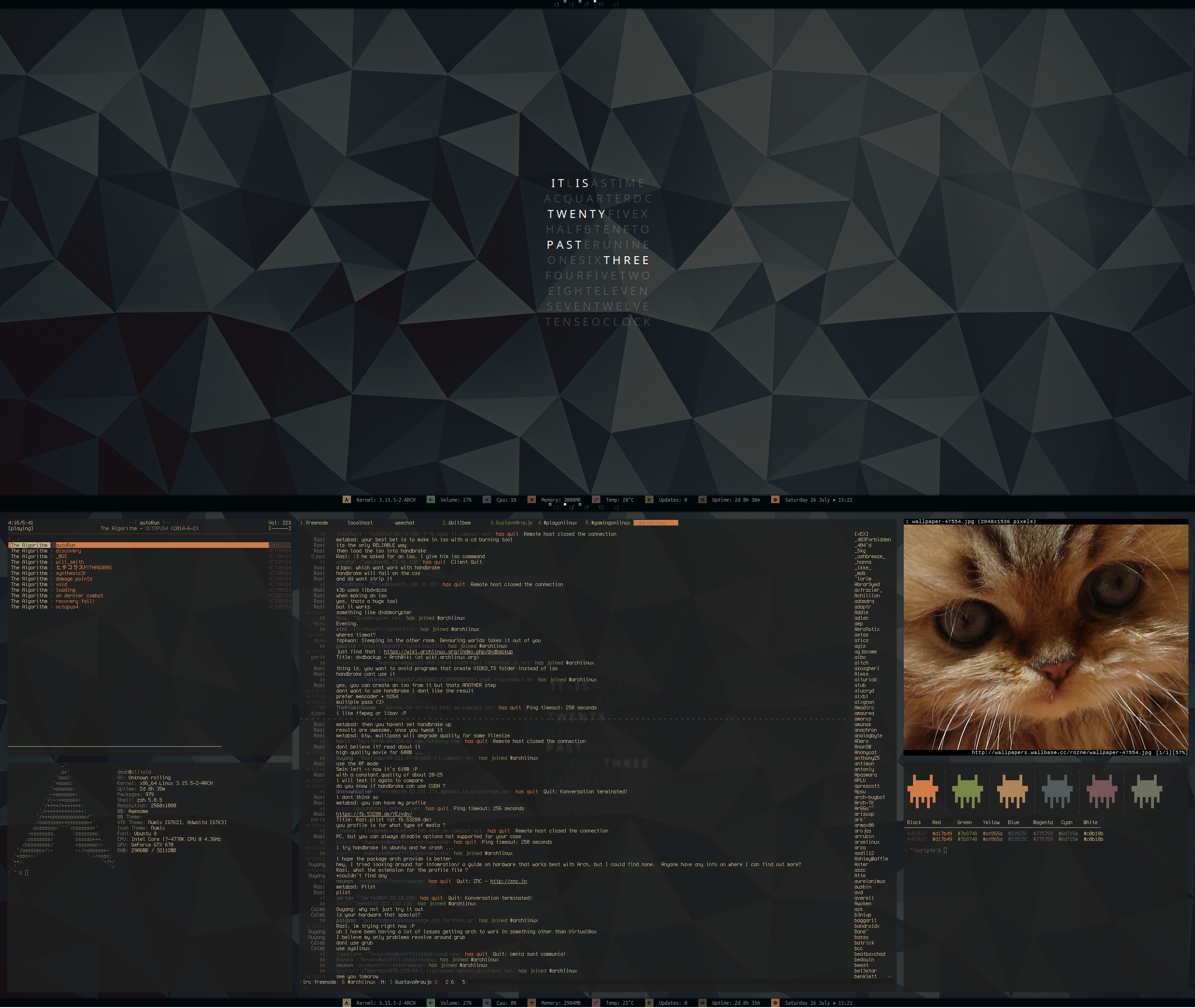 [arch] [awesomewm] July Desktop 2014 (v2) by transienceband