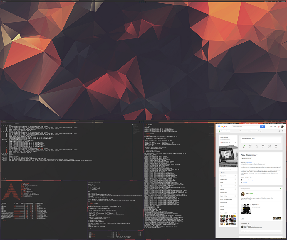 arch] [bspwm] october 2015 by f-s0ciety on DeviantArt