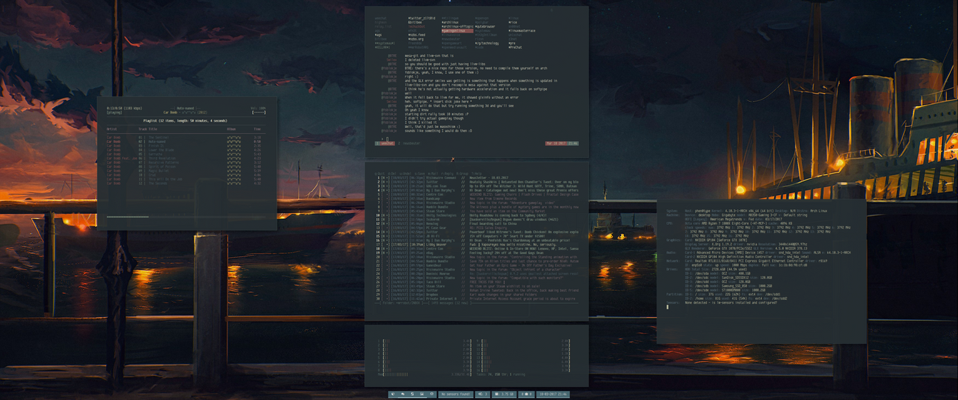 [arch] [bspwm] March 2017 by transienceband