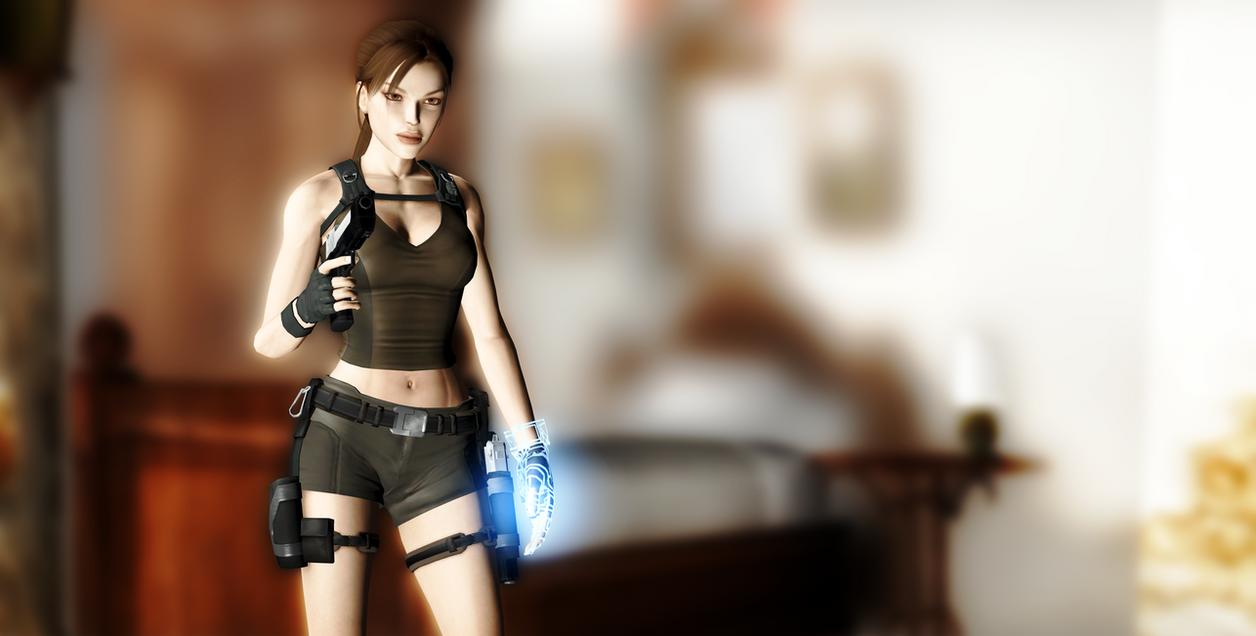 Lara Croft_Render test in XPS 11.8 by arpith20