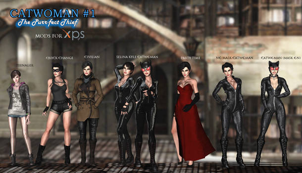 Catwoman - The Purrfect Thief Mod Pack for XNALara
