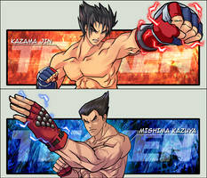 Tekken: Jin and Kazuya by CoolBlueX