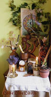 Home altar ( middle autumn) 2015 by LoveLiveLilith