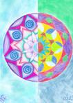 Gladness/Universe mandala by LoveLiveLilith