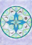 Emerald wind rose mandala by LoveLiveLilith