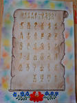 Hungarian runic writing by LoveLiveLilith