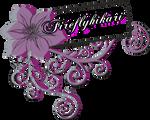 Flower Swirls - Deviant ID by Fireflyhikari