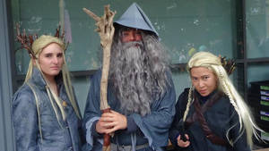 Thranduil Gandalf and Legalos