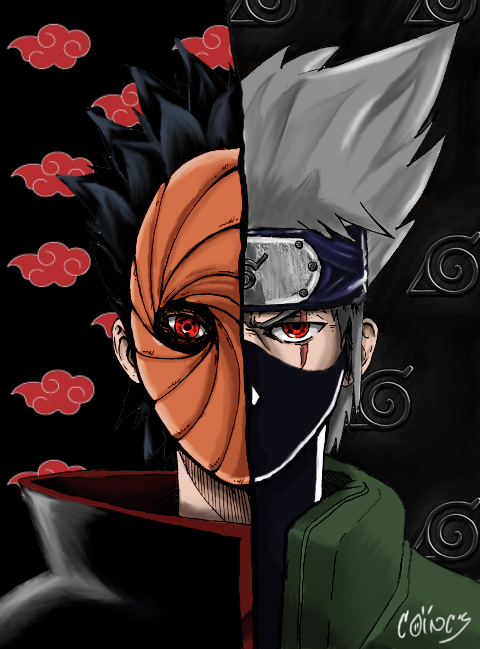 tobi and kakashi by djcoincs