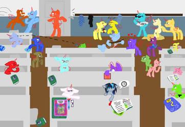 Mlp My Class {Collab} by PrincessYandereQuinn